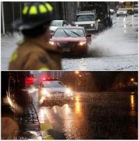 رياح شديدة و أمطار غزيرة تعيشها ولايات شمال شرق أمريكا