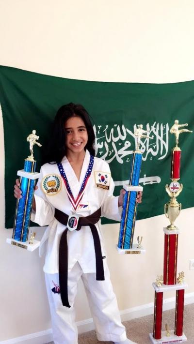أول سعودية تحصد بطولة التايكوندو خارجيًا
