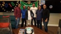 احتفال النادي السعودي بجامعة لوما ليندا بالطلاب